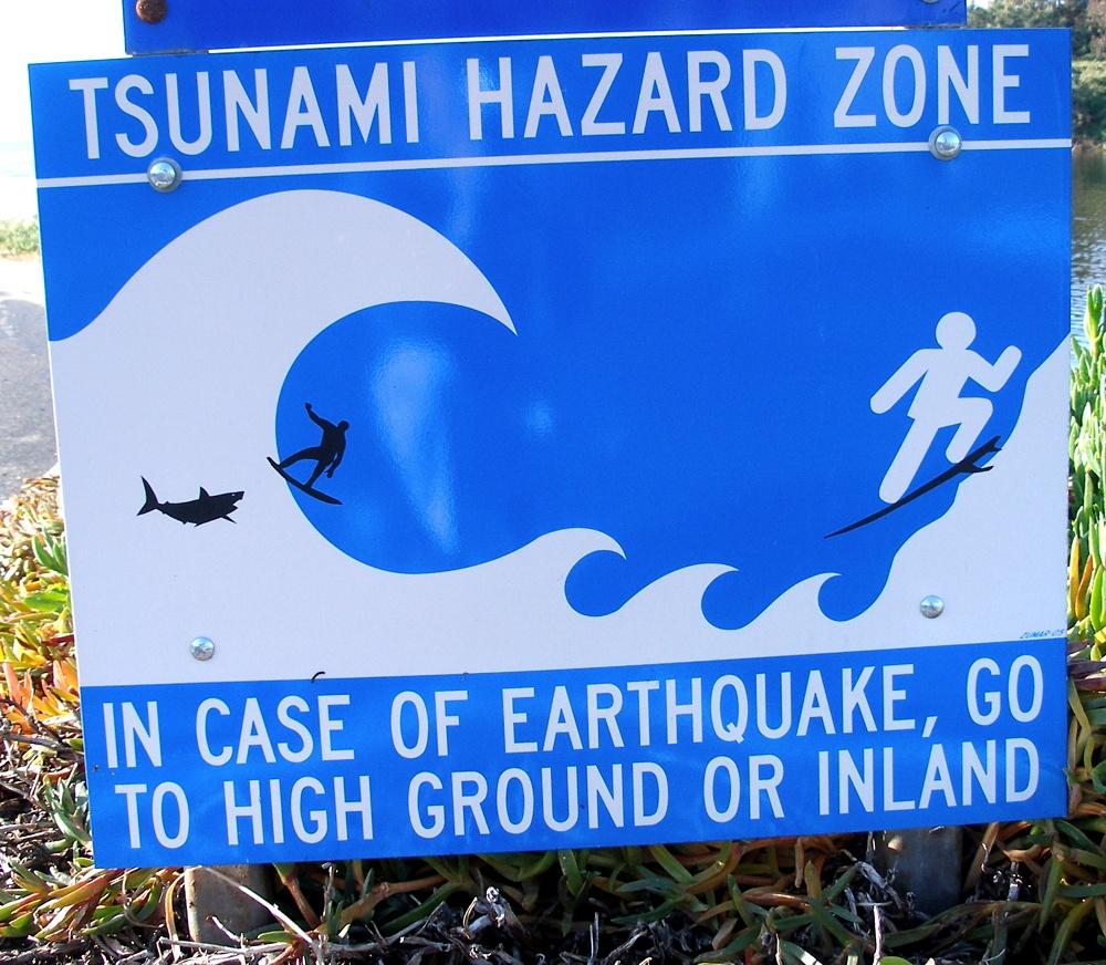 tsunami hazard zone sign 2