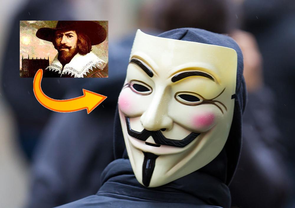 nombreux dans la variété meilleure qualité achat le plus récent Quelle est l'origine du masque des Anonymous ?