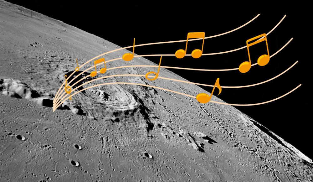 musique sur la lune