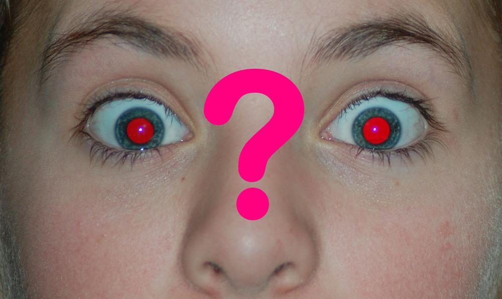 Pourquoi a t on parfois les yeux rouges sur les photos for Interieur yeux rouge