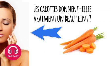 carottes peau teint